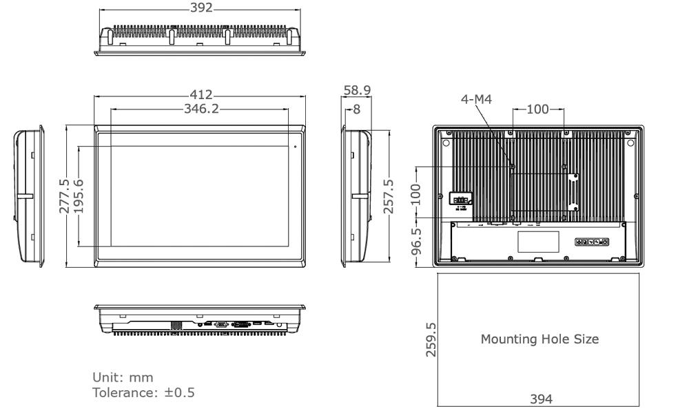 TD-45-16 Industrial Monitor Tech Draw