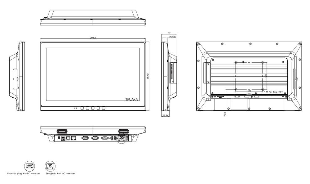 Medical PC TM-4033-15 Technical Drawing
