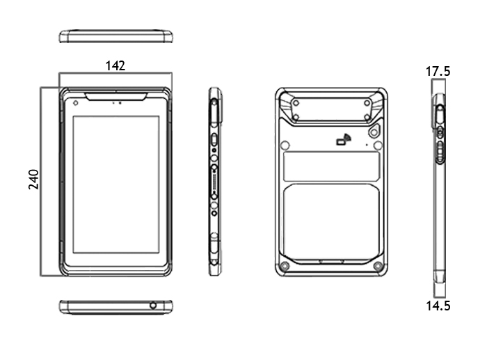 medical tablet TMT-4391-08 drawings