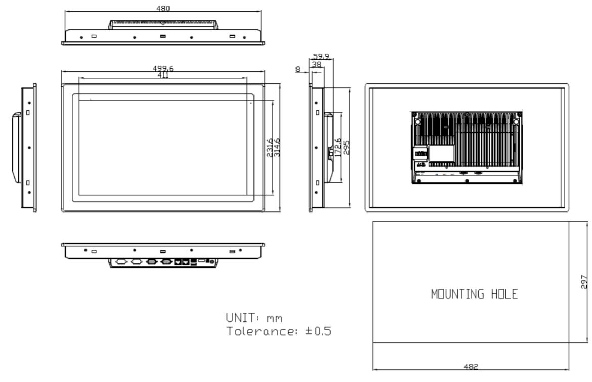 18-inch Computer Technical Drawing