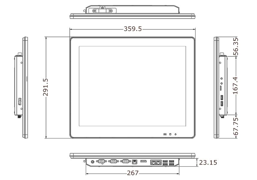 TP-3485-15 Tech Drawing