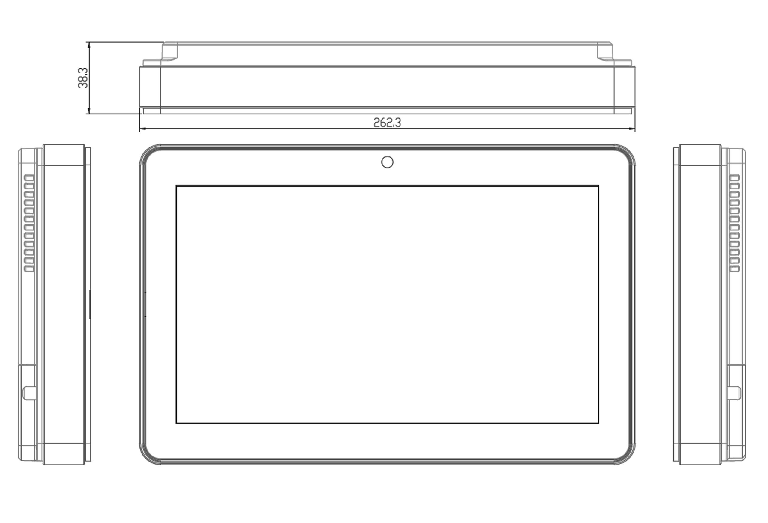 TP-5040-10M Medical Computer Technical Drawings