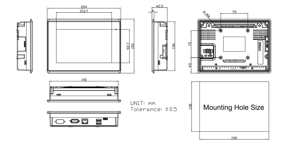TP-A945-07 Technical Drawings