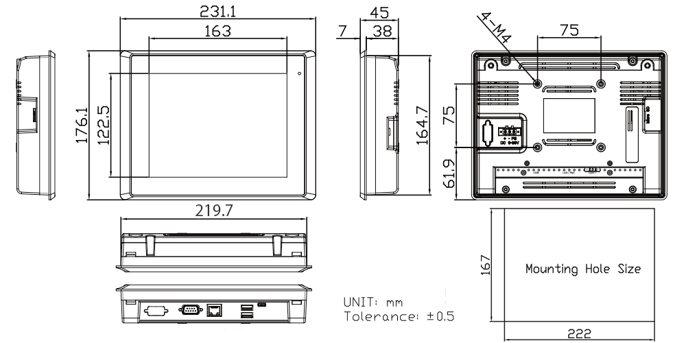 TP-A945-08 Technical Drawings