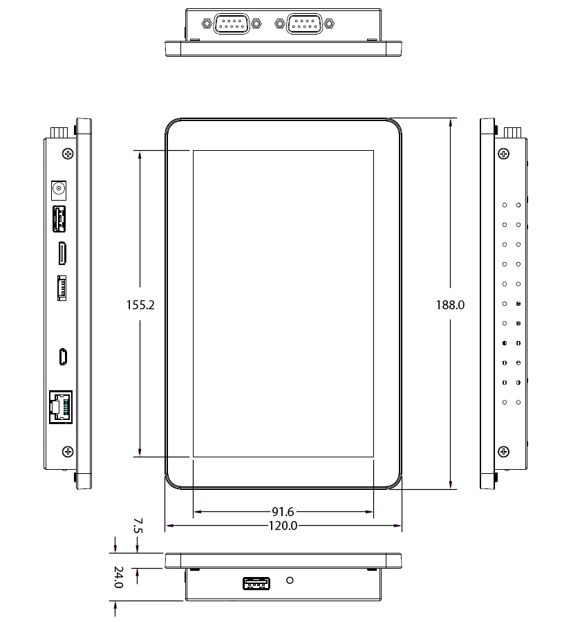 TP-A950-07 Technical Drawing
