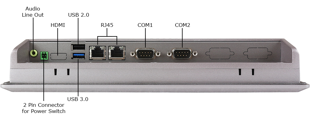 10-inch Industrial Computer Inputs/Outputs