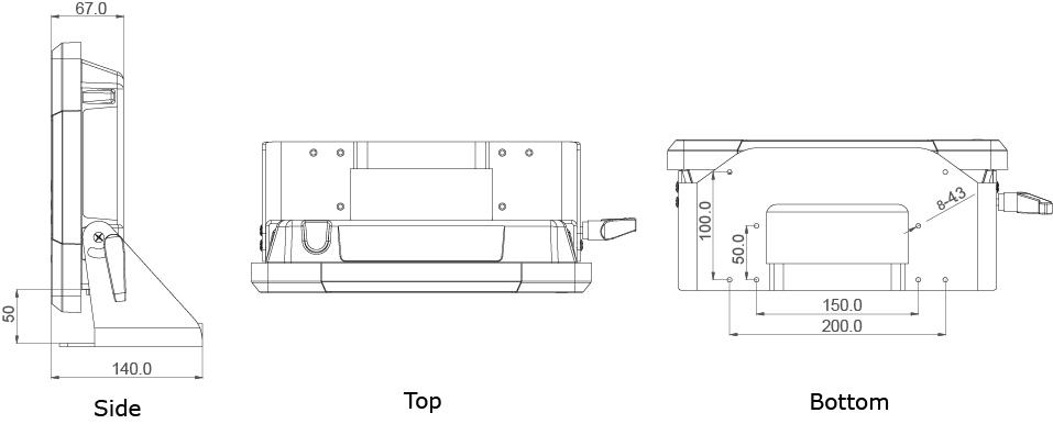 TR-5520-10 Tech Draw with Mounting Bracket