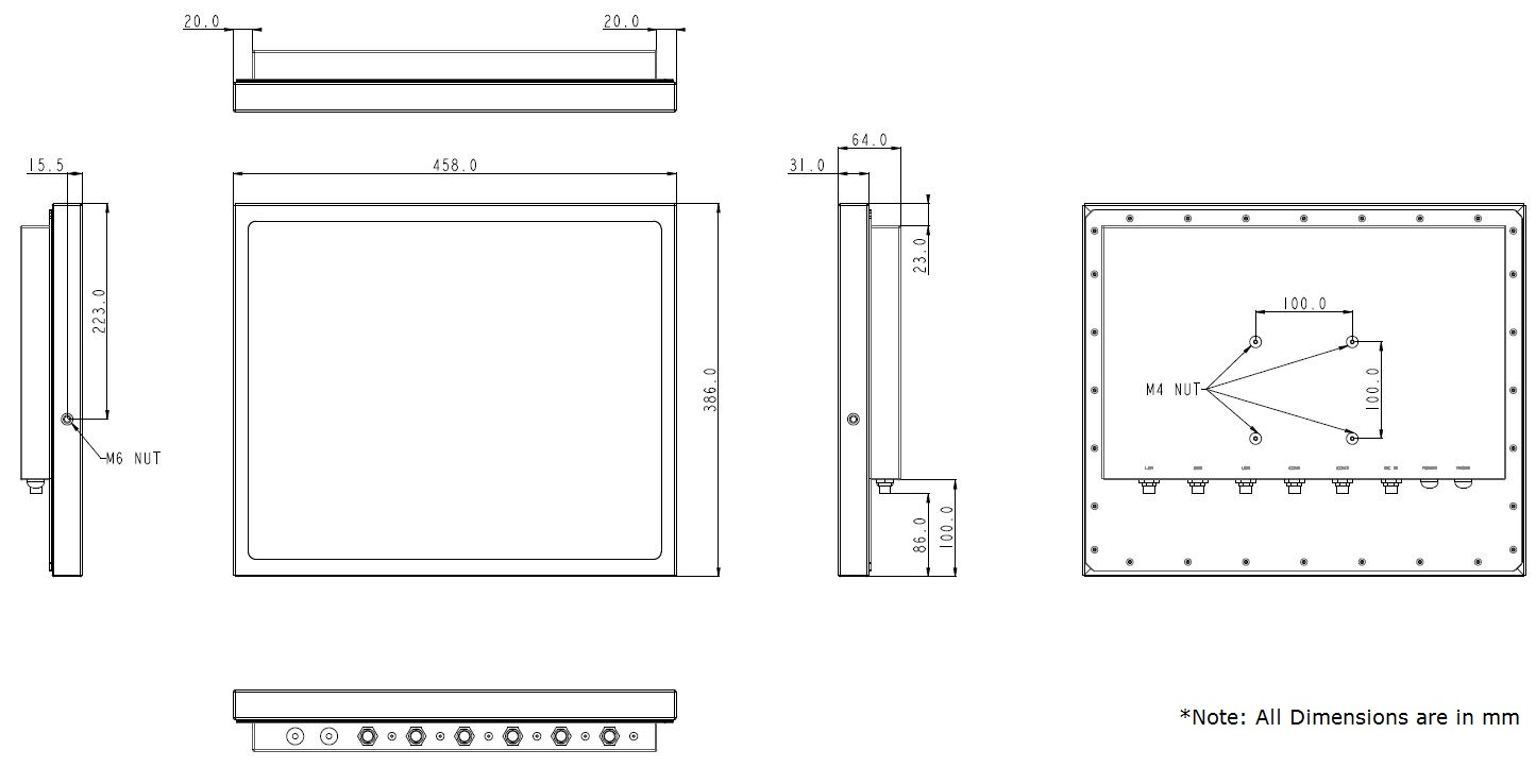 Stainless Steel Computer Technical Drawing TS-4010-19