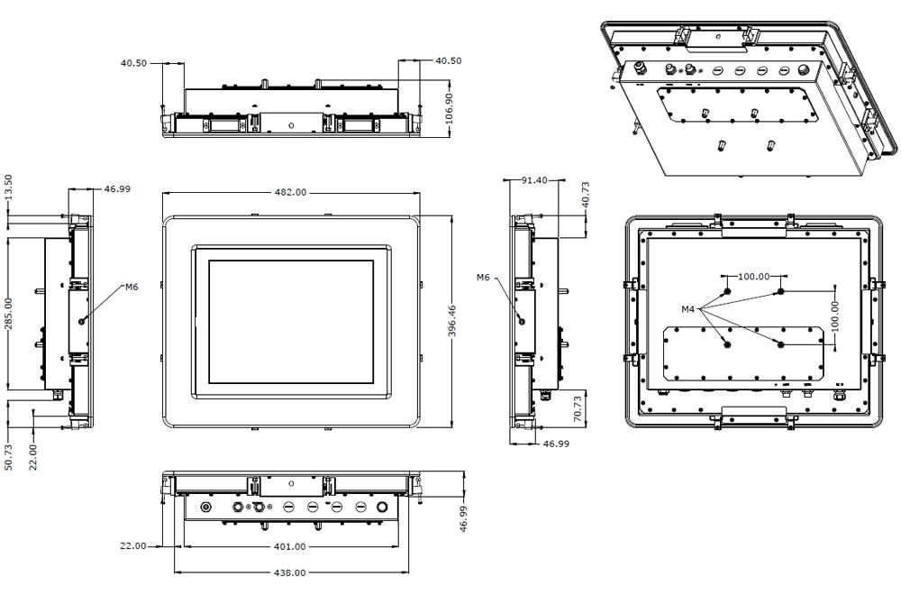 TSX-5010-15 with Panel Mount Bezel