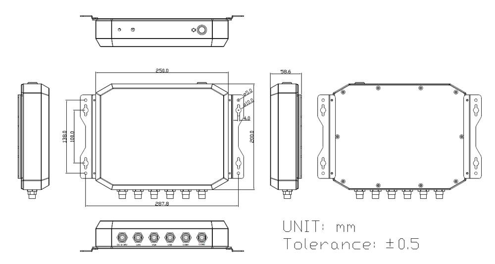 TWB-2945 Waterproof Box PC drawing
