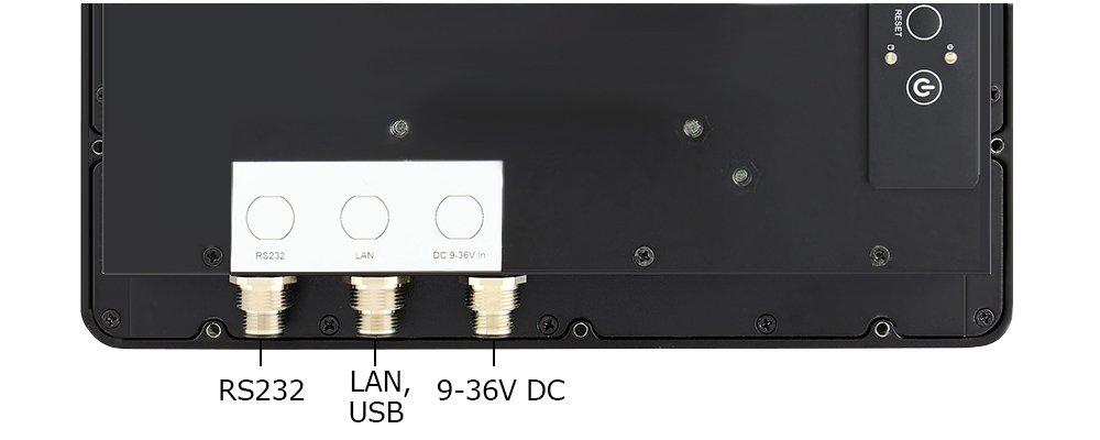 Teguar waterproof computer inputs and outputs