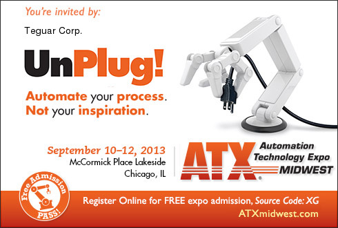 Teguar at the Automation Technology Expo, Sept. 10-22, 2013