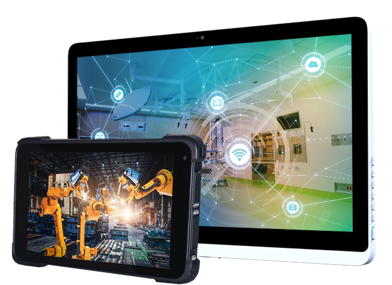 A Teguar panel pc and a rugged tablet used for industrial automation