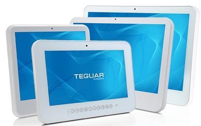 Four sizes of the Teguar TM-5010 medical computer series