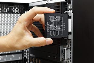 Teguar computer with a PoE Gigabit LAN power input.