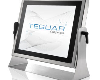 Teguar stainless steel industrial computer on adjustable stand