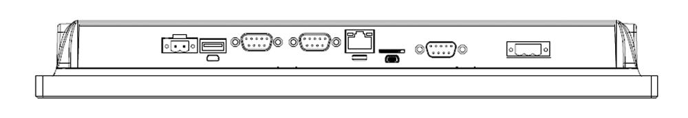 Teguar TA-A920-15 with modified IOs, featuring 3x COM, 1x Micro USB, 1x LAN and 1x USB IOs