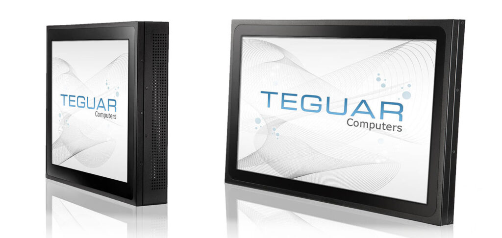 Two Teguar TP-3010-AIO computers from the all-in-one industrial series