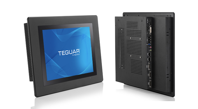 Front and back views of the Teguar TP-4010 with aluminum heatsink