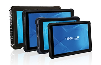 Four varying sizes of Teguar rugged tablets