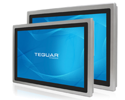 Two sizes of the Teguar TP-5045 touchscreen panel series