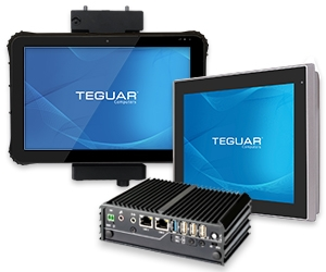 Three Teguar computers suitable for vehicle mounting