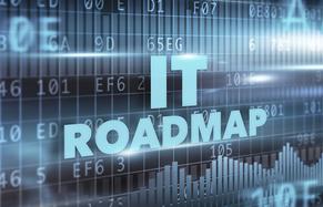 Computer screen that says IT Roadmap
